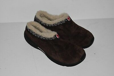 Kids/Boy/Girl Merrell Encore Chill Brown Suede Slides/Clogs Sherpa Lined, Size 2