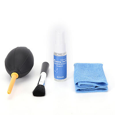 4in1 kit Blower Camera lens pen air blowing cleaning Dust Cleaner cloth brus RU