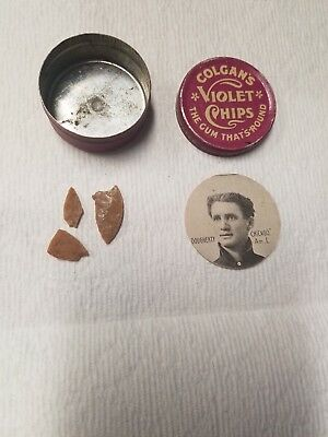 1909 - 1911 E254 Colgan's Chips DOUGHERTY ( CHICAGO Am.L ) Can And Gum Included
