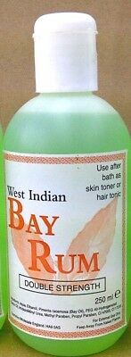 2 X West Indian Bay Rum Hair OR Skin Tonic /250ml Double Strength