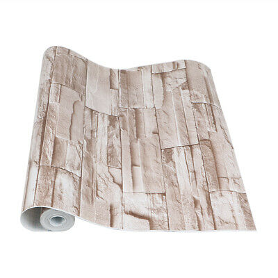 """17.72"""" x 32ft Vintage Brick Pattern Contact Paper Self-adhesive Peel and Stick"""