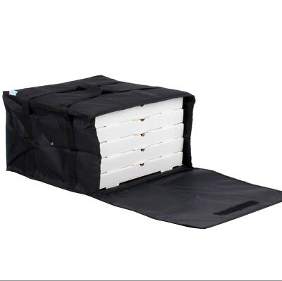 "6 PACK Insulated Catering Pizza Food Delivery Carrier Bag Box Black 20"" 18"" 16"""