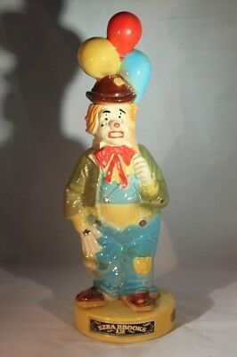Vintage 1973 Heritage China Ezra Brooks Whiskey Clown Decanter Bottle