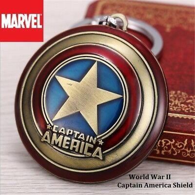 Marvel Comics WWII Captain America Shield The Avengers Movie metal Key chain USA