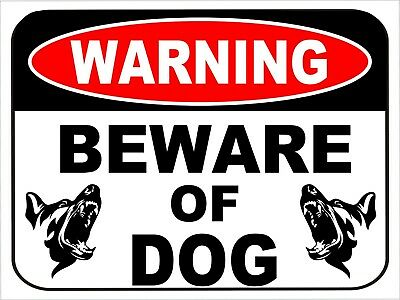 "10 Vinyl Signs BEWARE OF DOG /"" SECURITY WARNING SIGN 12/""X 9/"" NEW FREE SHIPPING"