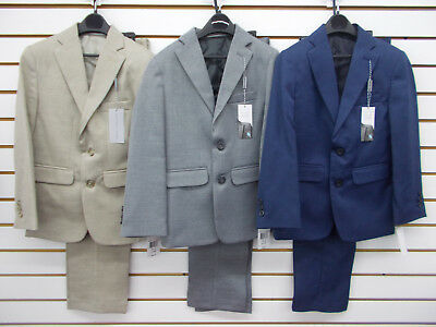 Boys Geoffrey Beene $85 2pc Tan, Gray, or Blue Suits Size 8 - 20