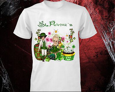 St Patricks Day T-shirt Ireland FLAG Shamrock Paddys Day Men Women kids irish