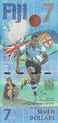 Fiji 7 Dollars 2016, P.New Rugby 7s Gold Olympians Uncirculated Unc