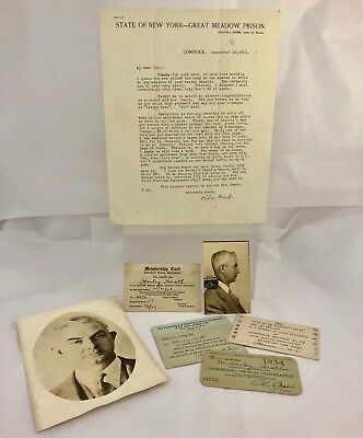 Vintage c1930s Great Meadow Prison NY Medical Doctor Funeral Archive
