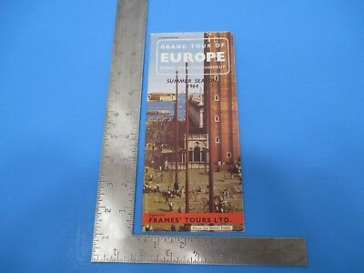 Vintage 1964 Grand Tour of Europe Summer Season Brochure Vacation Guide S4642