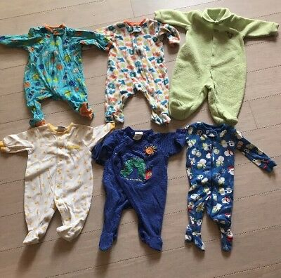 Baby Boy Girl Gender Neutral  0 3 6 Mo Clothes Outfits Sleepers Pajamas Lot