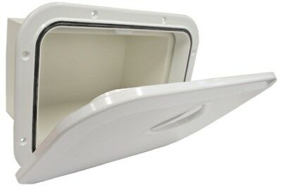 Access Hatch with Storage Box for Caravan Boat RV Marine White Lid storage Box