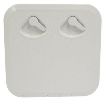 Square Access Hatch with Storage Box for Caravan Boat RV Marine White Lid