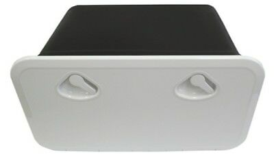 Deluxe Access Hatch with Storage Box for Caravan Boat RV Marine White Lid