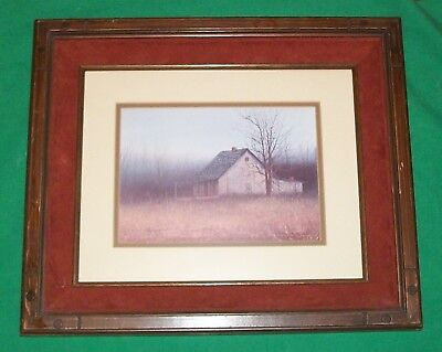 Vtg Jim Horton Signed Numbered Country Barn Home House Picture Decor Rural Farm