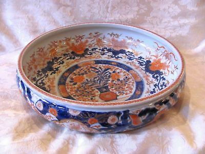Large Antique Japanese Imari Bowl Late Edo Period Circa 1840