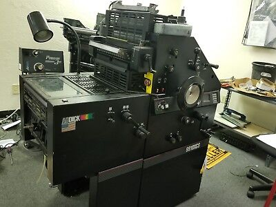 Ab Dick 9910 Printing Press, Ab Dick Plate Maker (DPM), 2 Rollem Number Machines