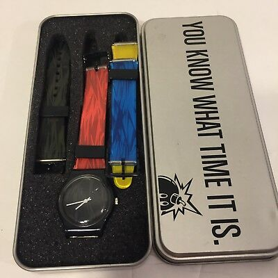 Spring 2008 NEW RARE The Hundreds Limited Edition Watch W/Case and Straps Multi