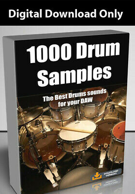 1000 Drum Samples - The Best Drum sounds for your DAW - Download
