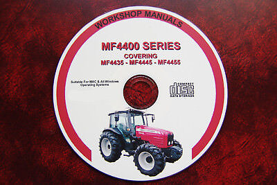 Massey Ferguson Mf4435, 4445, 4455 Series Tractor Workshop Service Repair Manual