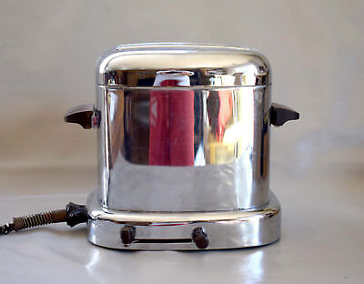 "Art Deco, Montgomery Ward ""Auto Bread"" Chrome Toaster Model 86-05DE - SCARCE ! !"