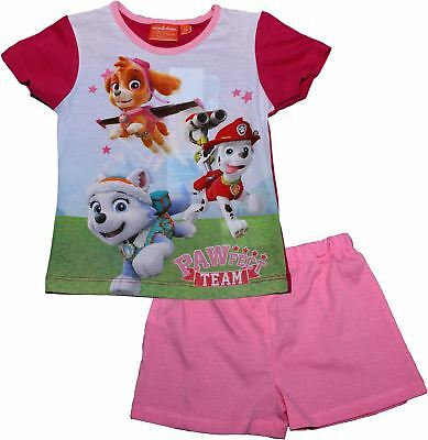Paw Patrol Girls Pawfect Team Short Sleeve Pyjama Set - Summer Collection