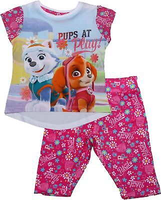 Paw Patrol Girls Flowers 3/4 Length Pyjamas