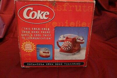 CoCa Cola Snow Dome Desk Phone (Push Button)(Corded)
