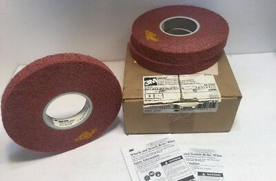 (Box of 3) 3M Scotch-Brite Metal Finishing Wheel #01872 5A CRS 8in x 1in x 3in