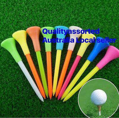 50 X TOP QULITY LARGE 83mm PLASTIC & RUBBER CUSHION TOP GOLF TEE Mixed Colours
