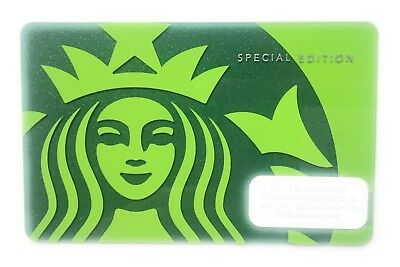 Starbucks Gift Card: 2010 Green Siren Mermaid Special Edition  Collectible