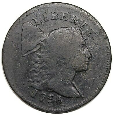 1796 Liberty Cap Large Cent, rare S-82, R.5, VG+ detail