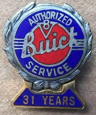 Vintage Buick Authorized V8 31 Year Service Pin