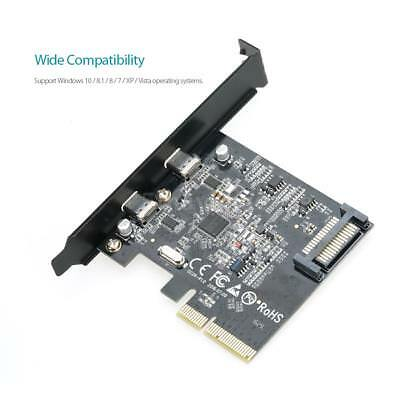 dodocool SuperSpeed USB 3.1 PCI-Express Card Dual Reversible Type-C Ports W0X9