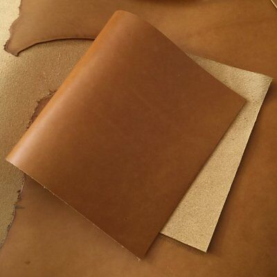 1.8-2mm Thick Leather pieces Vintage Pull-up Oil Brown Leather Cowhide Leather