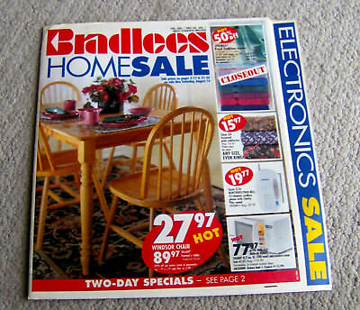 RARE vintage 1999 BRADLEES department store AD FLIER CIRCULAR shopping mall OLD