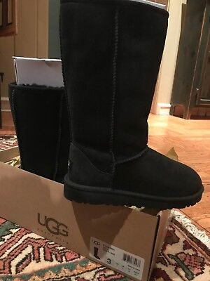 Ugg Classic Cardy Grey Gray Tall Ankle Knit Boots Size 5 Youth