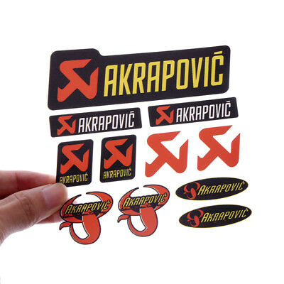 AKRAPOVIC Car Stickers Set Decal Personalized Refit Supplies A Variety Of Styles