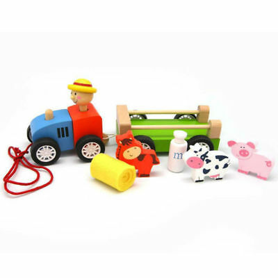 Pull Along TRACTOR with Farm Animals KAPER KIDZ Girl Boy Gift 12m+ FREE SHIPPING