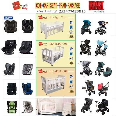 Baby Bed Cot Pram Stroller Car Seat Mattress Bath Etc Package Joolz iCandy Boori