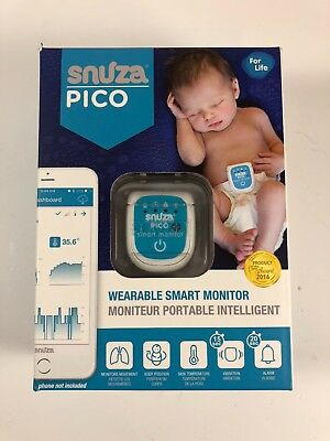 Snuza Pico Baby Wearable Smart Monitor Movement Temperature Vibration Alarm New
