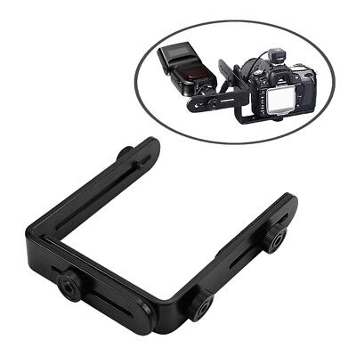 L-shaped Metal Double Dual Flash Bracket Holder Mount for Canon Speedlite&Camera