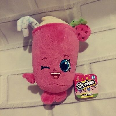 NEW Shopkins Berry Smoothie Bean Plush Just Play