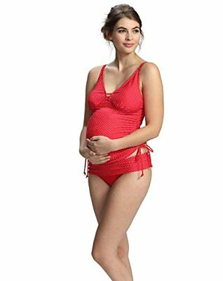 (TG. Large) Petit Amour Ava Rosso umstandstankini S–XL, (V3p)