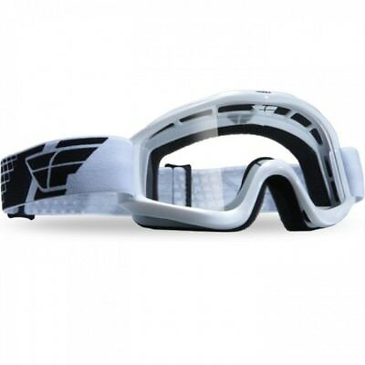 Fly Racing NEW Mx Focus Dirt Bike Adult Clear Lens BMX White Motocross Goggles