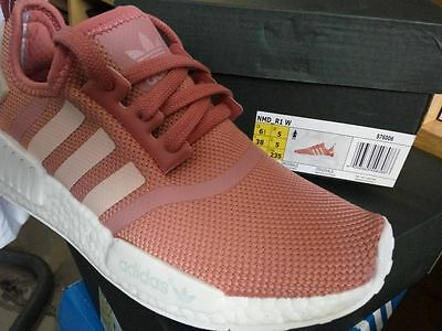 9022639fde41 ADIDAS NMD R1 PINK RAW S76006 Raw Pink Rose Salmon Peach women shoes sales.
