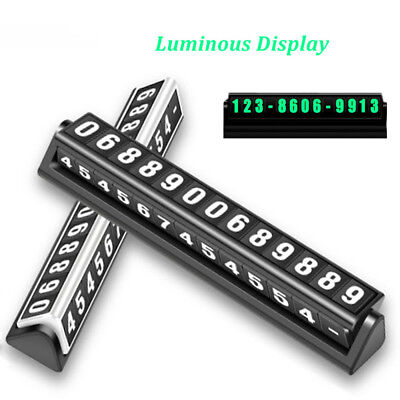 1pc Night Luminous Temporary Car Parking Card Plate Card Telephone Number CardJB