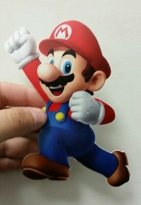 Super Mario Bros. Mario sticker 4 x 6. (Buy 3 stickers, GET ONE FREE!)