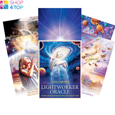 Lightworker Oracle Deck Cards Esoteric Fortune Telling Blue Angel New