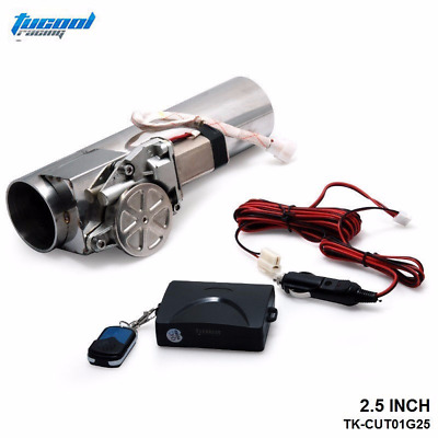 2.5inch Race Ready Performance Electric Exhaust Cutout Controller with 2 Remotes